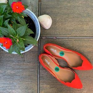 NEW MIA Coral Scalloped Etta Ballet Flats | Size 8